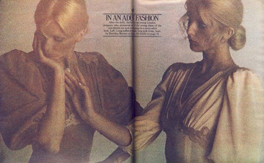 Both dresses by Sheridan Barnett for Quorum