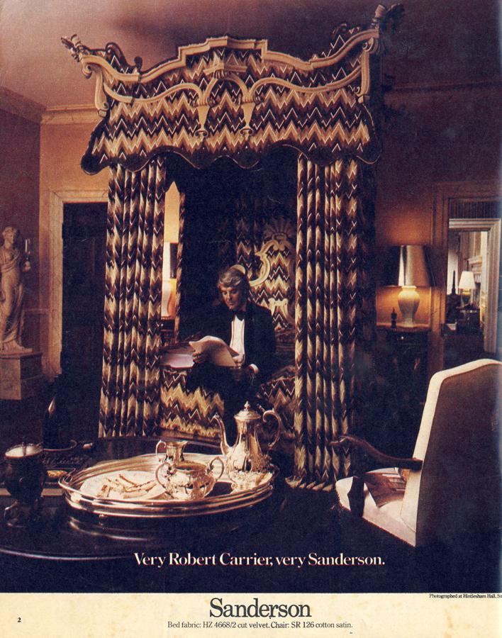 Vintage Adverts: Very Robert Carrier; very Sanderson. – Liz Eggleston