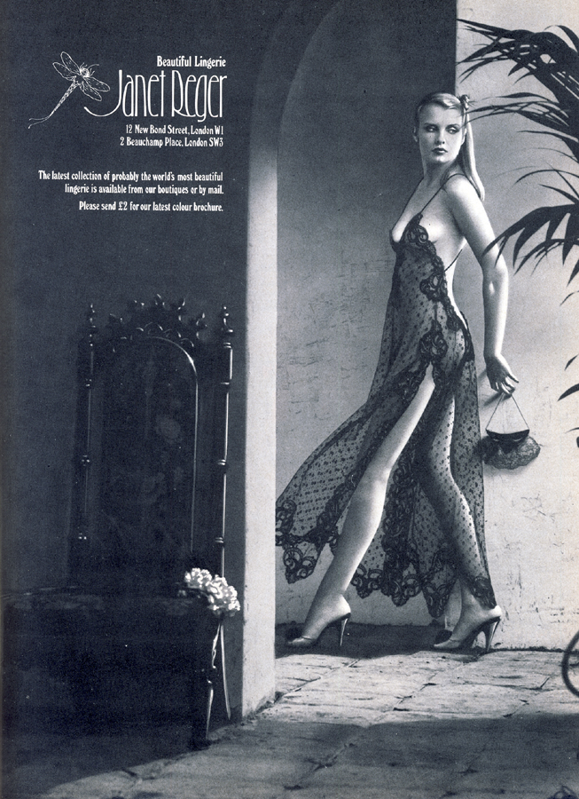 janet reger advert harpers queen december 78