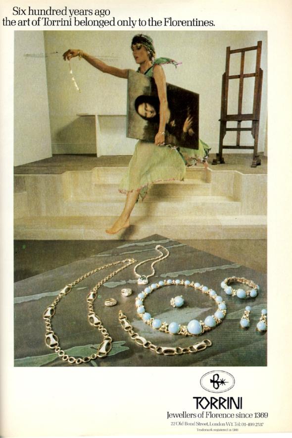 torrini advert harpers november 1979