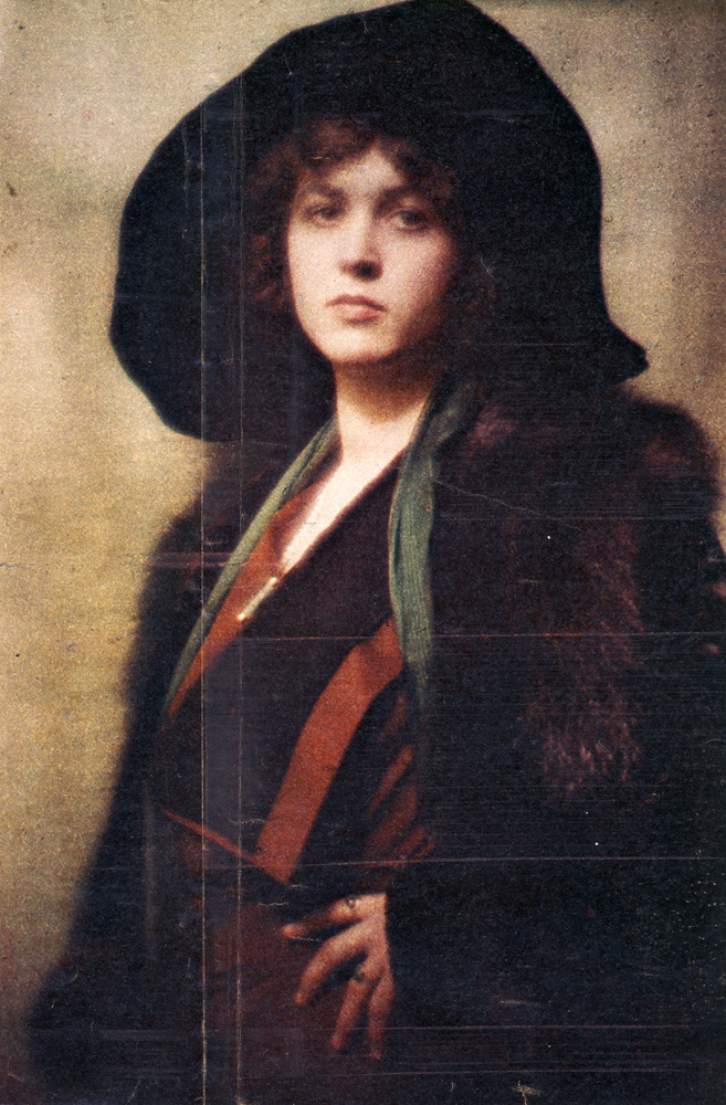 Unidentified Woman by Arnold Genthe 1910 Autochrome