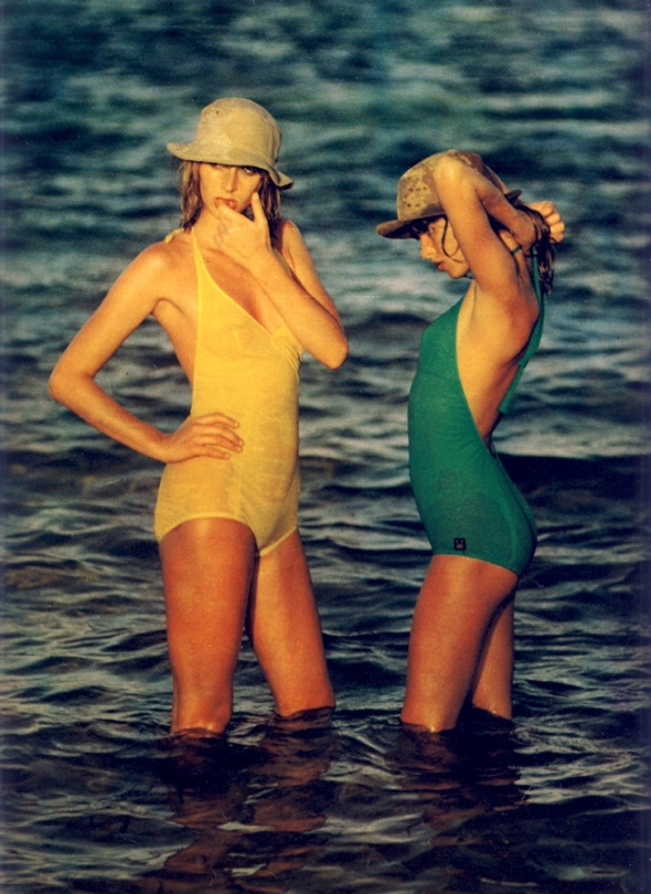 Swimsuits by Wiki at Bellino. Hats from Badges and Equipment.