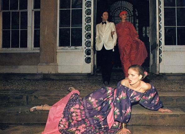 Both dresses by Maureen Baker.