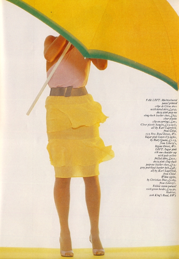THE IMPOSSIBLE DREAM DRESS Karl Lagerfeld Photographed by Claus Wickrath. Harpers and Queen June 1980