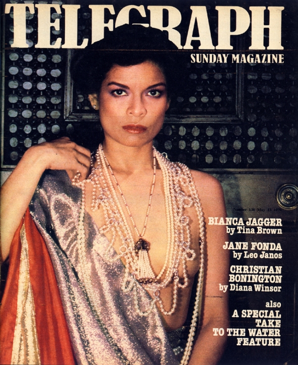 bianca jagger telegraph magazine may 1979 cover