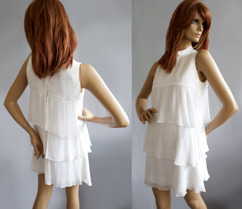 Alistair Cowin 1960s chiffon mini dress at Vintage-a-Peel