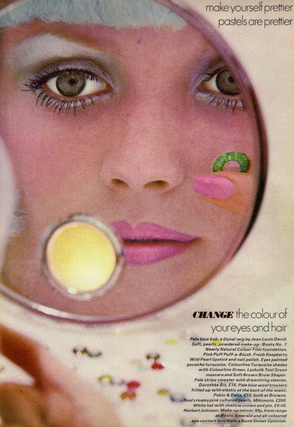 pastels are prettier - peter knapp - vogue - june 1972