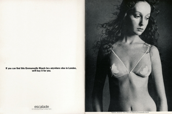khanh bra advert vogue dec 1970