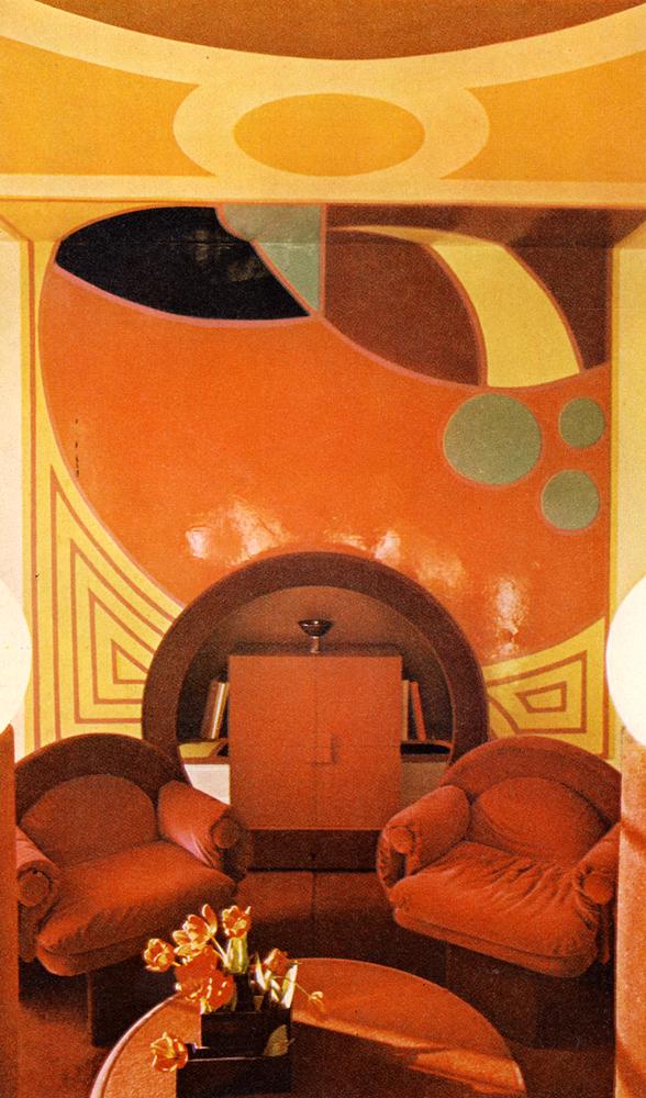 Max Clendinning's carpet revolution. Furniture and lamp, from Christopher Strangeways's shop, Kings Road -- Jon Wealleans, Charles Dillon good design here too.