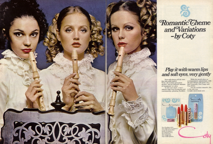 Coty Advert - Scanned by Miss Peelpants from Vanity Fair. November 1968