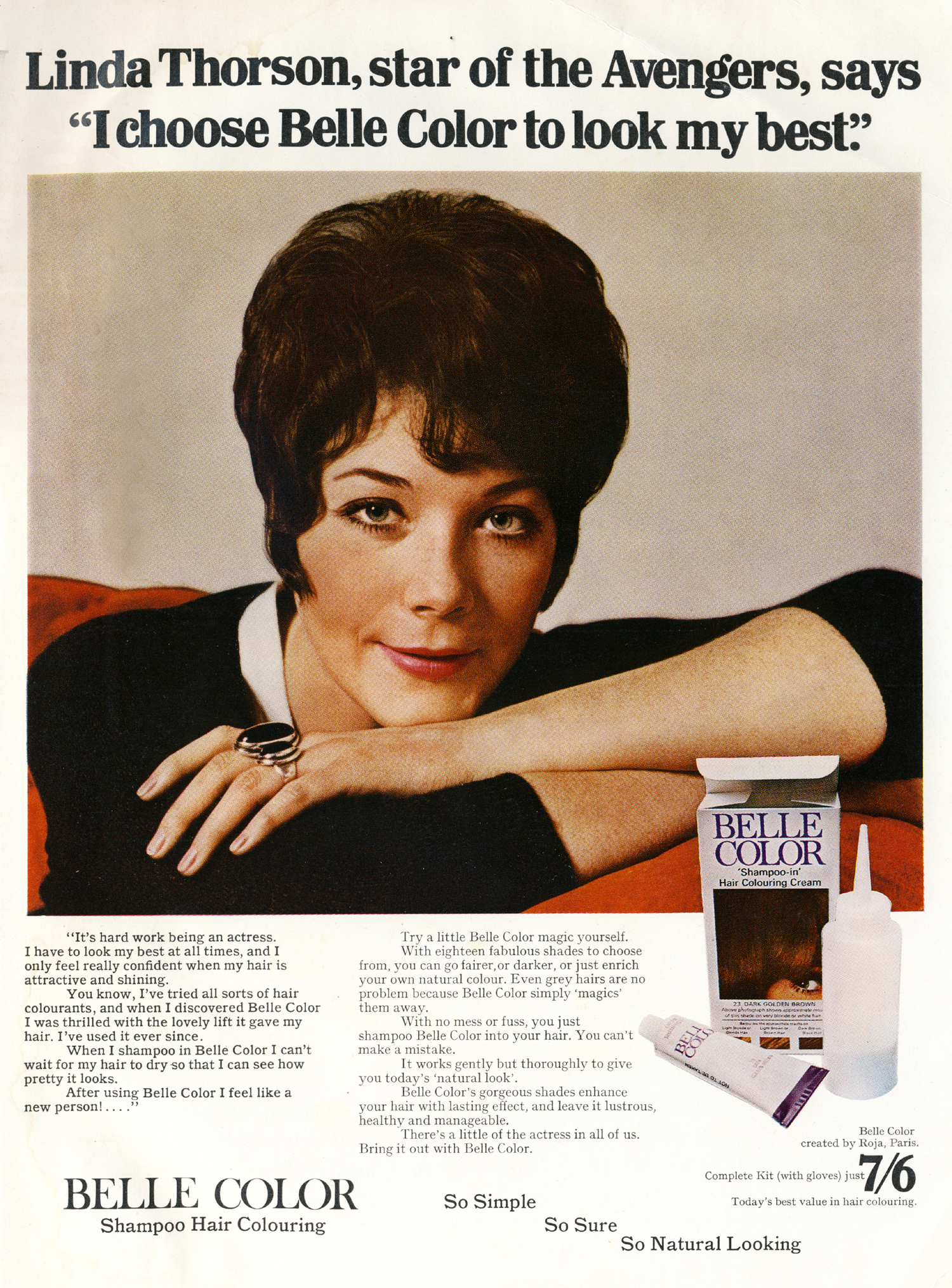 linda thorson belle colour